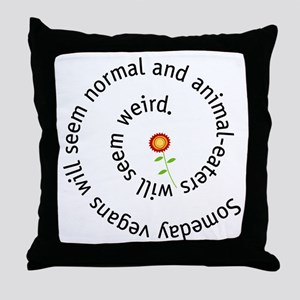 Normal vegan Throw Pillow