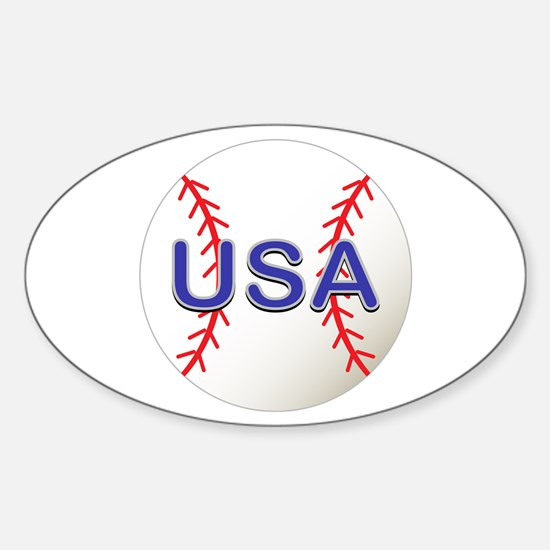USA Baseball Sticker (Oval)
