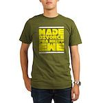 Made Divorce Organic Men's T-Shirt (dark)
