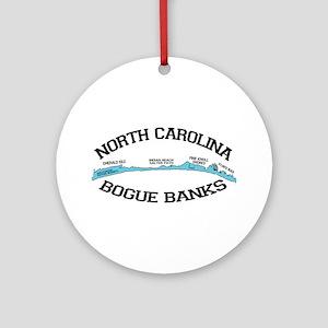 Bogue Banks NC - Map Design Ornament (Round)