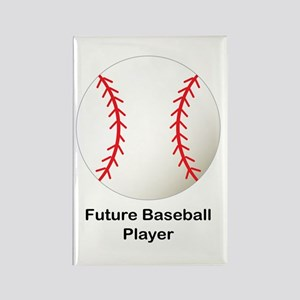 Future Baseball Rectangle Magnet
