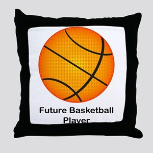 Future Basketball Throw Pillow