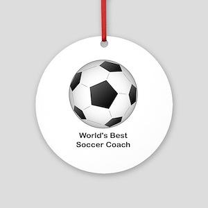 World's Best Soccer Coach Ornament (Round)