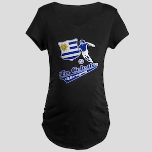 Uruguayan soccer Maternity Dark T-Shirt