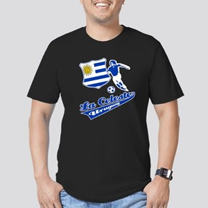 Uruguayan soccer Men's Fitted T-Shirt (dark)