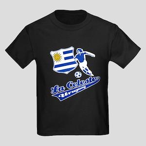Uruguayan soccer Kids Dark T-Shirt