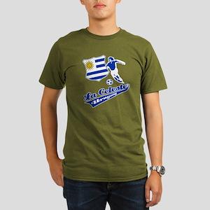 Uruguayan soccer Organic Men's T-Shirt (dark)