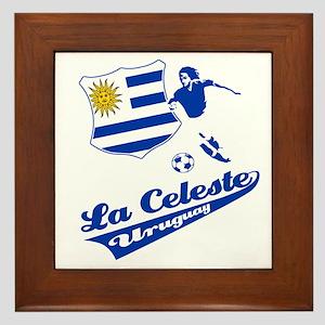 Uruguayan soccer Framed Tile