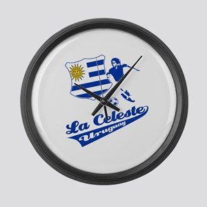Uruguayan soccer Large Wall Clock