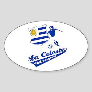 Uruguayan soccer Sticker (Oval)