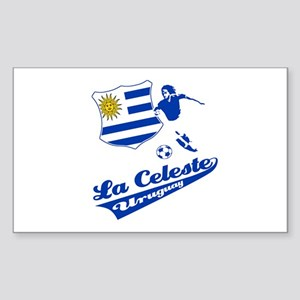 Uruguayan soccer Sticker (Rectangle)