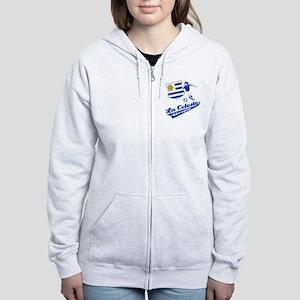Uruguayan soccer Women's Zip Hoodie