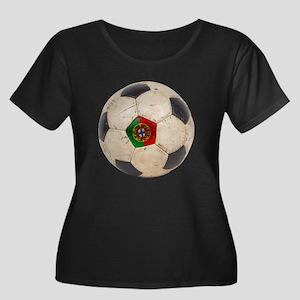Portugal Football Women's Plus Size Scoop Neck Dar