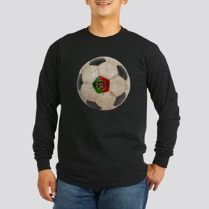 Portugal Football Long Sleeve Dark T-Shirt
