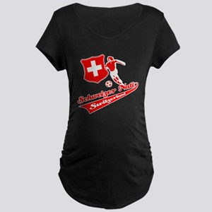Swiss soccer Maternity Dark T-Shirt