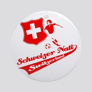 Swiss soccer Ornament (Round)