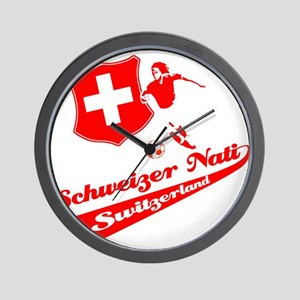 Swiss soccer Wall Clock