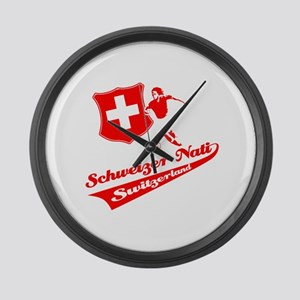 Swiss soccer Large Wall Clock