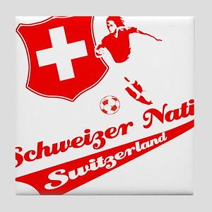 Swiss soccer Tile Coaster