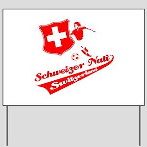 Swiss soccer Yard Sign