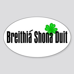 Happy Birthday in Irish Oval Sticker