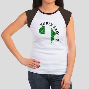 Super Eagles of Nigeria Women's Cap Sleeve T-Shirt