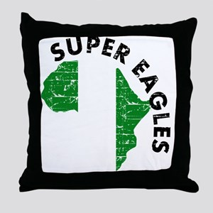 Super Eagles of Nigeria Throw Pillow