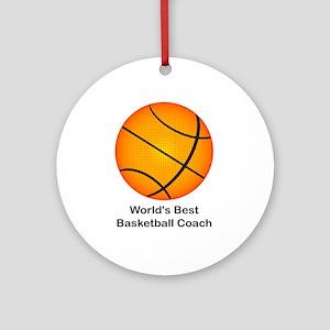 World's Best Basketball Coach Ornament (Round)