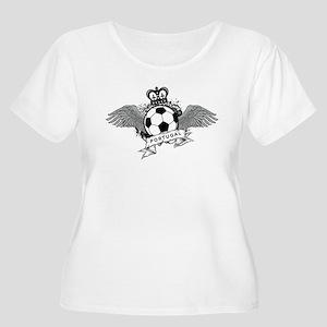 Portugal Football Women's Plus Size Scoop Neck T-S