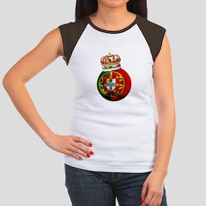 Portugal Football Champion Women's Cap Sleeve T-Sh