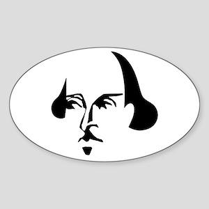 Simple Shakespeare Sticker (Oval)
