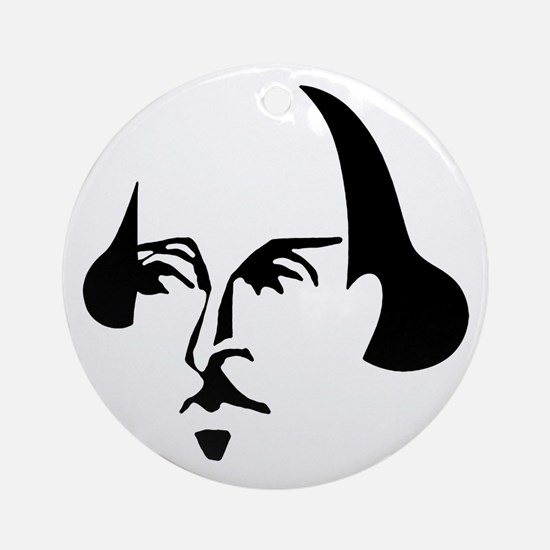 Simple Shakespeare Ornament (Round)