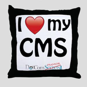 I Love My CMS Throw Pillow