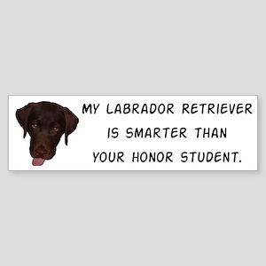 Smart Labrador Retriever Sticker (Bumper)