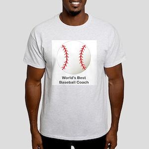 World's Best Baseball Coach Light T-Shirt