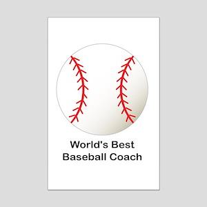 World's Best Baseball Coach Mini Poster Print
