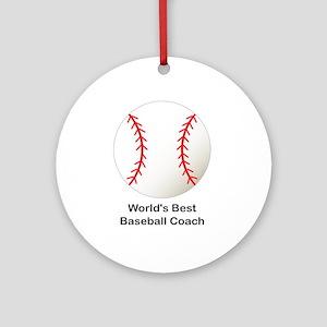 World's Best Baseball Coach Ornament (Round)