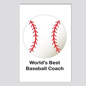 World's Best Baseball Coach Postcards (Package of