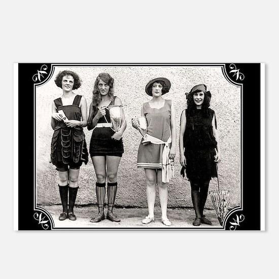 Vintage Bathing Beauties Postcards (Package of 8)