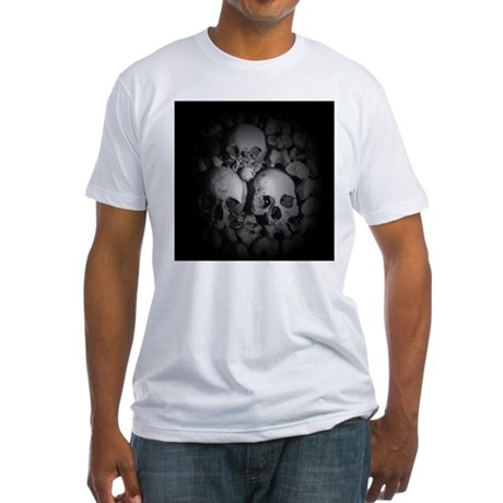 dark catacombs Fitted T-Shirt