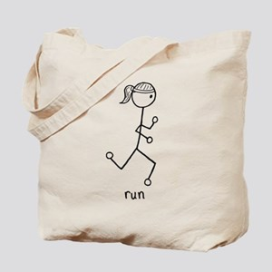 Running Girl Tote Bag