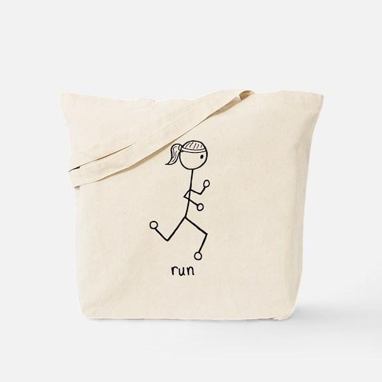 Running Girl Tote Bag