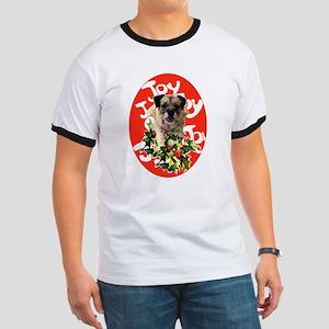 border terrier Christmas Ringer T