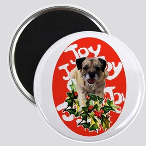 border terrier Christmas Magnet