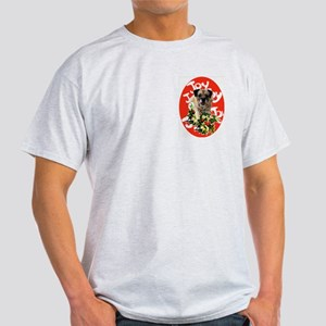 border terrier Christmas Ash Grey T-Shirt