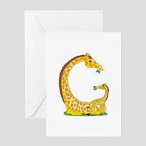 Animal Alphabet Giraffe Greeting Card