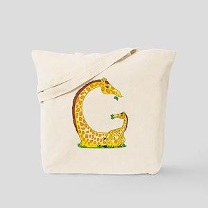 Animal Alphabet Giraffe Tote Bag