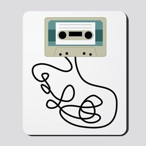 Loose Cassette Tape Loops Mousepad
