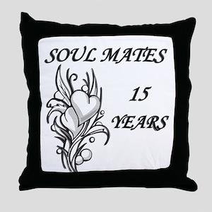 15th. ANNIVERSARY Throw Pillow