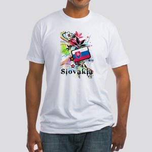 Flower Slovakia Fitted T-Shirt